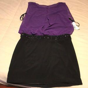 Bisou Bisou - black and purple dress